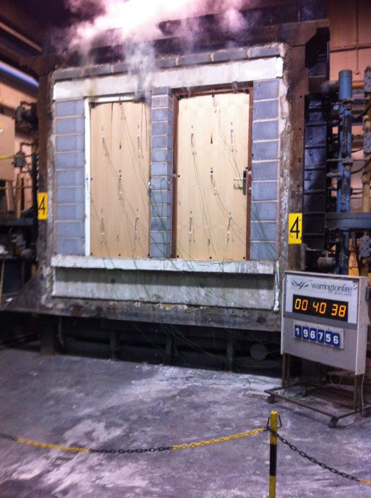 Fire Door During Testing